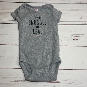 *5 for $15* Carter's Grey The Snuggle Is Real
